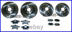 Vauxhall Astra H Mk5 2005-2010 Front And Rear Brake Discs & Pads Set 5 Stud