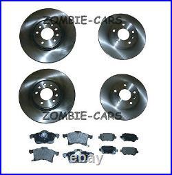 Vauxhall Astra H Zafira MK2 1.9 CDTi Front & Rear Brake Discs & Pad Set 05 to 11