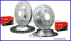 Vauxhall Insignia Front And Rear Drilled Grooved Brake Discs & Pads (check Size)
