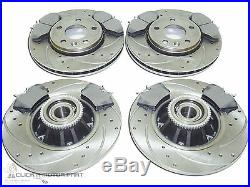 Vauxhall Vivaro 2001-2014 Front & Rear Drilled Grooved Brake Discs + Mintex Pads