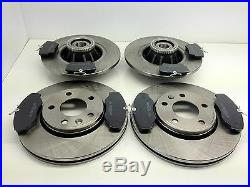 Vauxhall Vivaro Front And Rear Brake Discs Pads Abs Ring Fitted Wheel Bearings