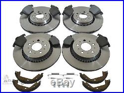 Volvo XC 90 Xc90 Front & Rear Brake Discs & Pads Shoes & Fitting Kit Check Size