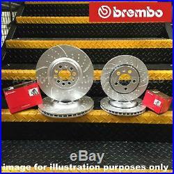 Vw Bora Golf MK4 2.8 V6 Kinetix Front Rear Grooved Brake Discs And Brembo Pads