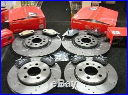 Vw Golf Anniversary Brake Disc Pads Front Rear Brembo Drilled Grooved Brakes