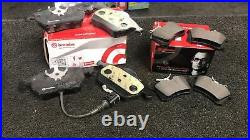 Vw Golf Mk4 1.9 Tdi Fsi 2.0 2.3 V5 Drilled Grooved Brake Discs & Brembo Pads