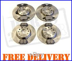 Vw Touran 1.6 1.9 2.0 Fsi Tdi 2003 Front And Rear Brake Pads And Discs