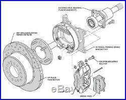 Wilwood Disc Brake Kit, Rear, Chevy C-10 C-15 Truck, Blk, D