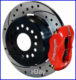 Wilwood Disc Brake Kit, Rear, Chevy C-10 Truck, 2.42,12 Drilled Rotors, Red Calip