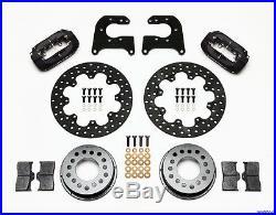 Wilwood Drag Disc Brake Kit, Rear, Mopar, Dana 60,2.50,11.44 Drilled Rotors, Black
